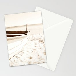 Minimalist coastal beach boat nautical  Stationery Cards