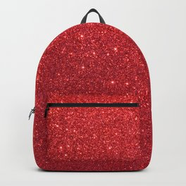 Ruby Red July Leo Birthstone Shimmering Glitter Backpack