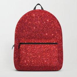 Ruby Red July Leo Birthstone Shimmering Glitter Backpack