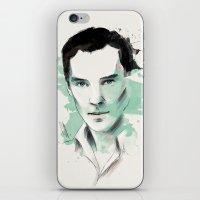 cumberbatch iPhone & iPod Skins featuring Benedict Cumberbatch by charlotvanh