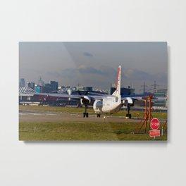 Take off at London city Airport Metal Print