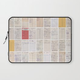 Old Friends Library Circulation Card Print Laptop Sleeve