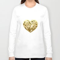 clockwork Long Sleeve T-shirts featuring Clockwork Heart by Roman Maisei