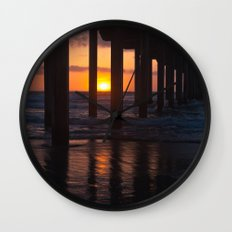Sunset Captured Wall Clock