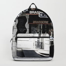 France Photography - French Cafe Backpack