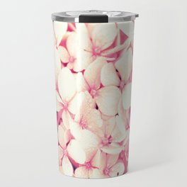 Rose Pink Flowers (Hydrangea) Travel Mug