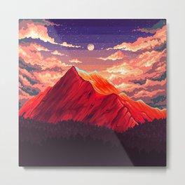 Pixel landscape Metal Print