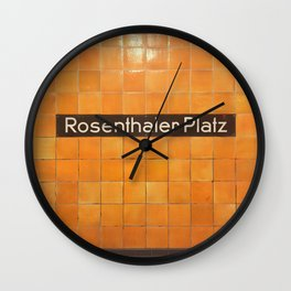 Berlin U-Bahn Memories - Rosenthaler Platz Wall Clock