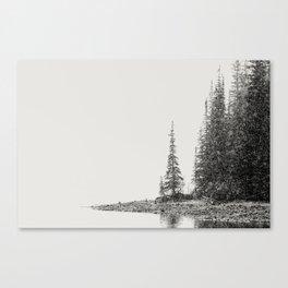 Snow Storm at the Mountain Lake - Moraine Lake Banff National Park Canada  Canvas Print