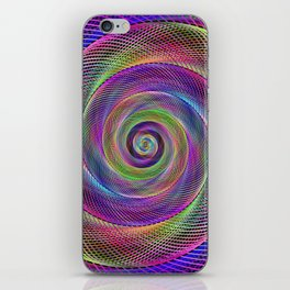 Spiral magic iPhone Skin