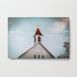 Former Wesleyan Methodist Church, Almont, North Dakota Metal Print