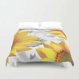 Sunflower Bouquet #decor #society6 #buyart Duvet Cover