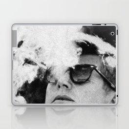 John F Kennedy Cigar and Sunglasses Black And White Laptop & iPad Skin
