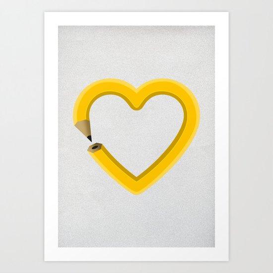 Love to draw Art Print