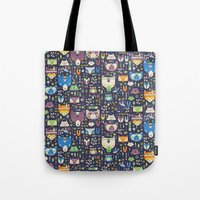 wild things Tote Bags featuring Wild Things by Paula McGloin Studio