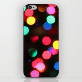 Christmas Bokeh iPhone Skin
