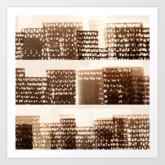 Skyline - Stacked Art Print
