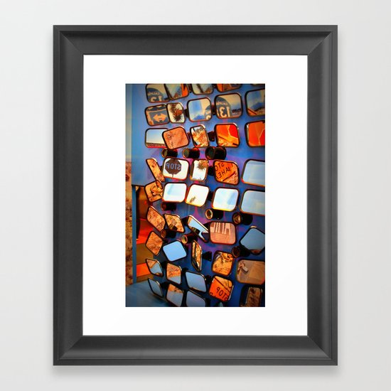 colorful fragments of life Framed Art Print