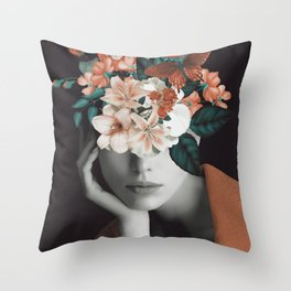 WOMAN WITH FLOWERS 7 Throw Pillow