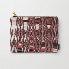 Beaded past-time -red Carry-All Pouch