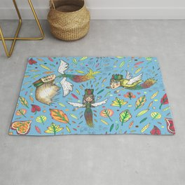 fall leaf fairies Rug