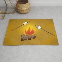 Camping - Roasting Marshmallows over Campfire Rug