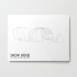 Snow Ridge, NY - Minimalist Trail Art Metal Print