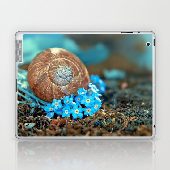 Romantic bed in the moss Laptop & iPad Skin