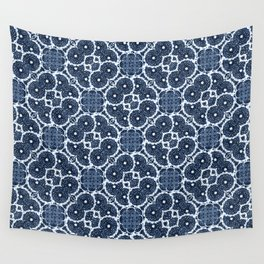 Blue Spinners Wall Tapestry