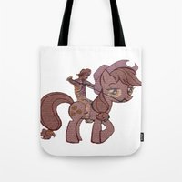 my little pony Tote Bags featuring My Little Remington Pony by Ancora Imparo