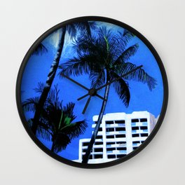 Fort Lauderdale Skyline Wall Clock