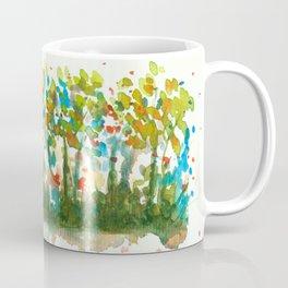Silent Woods, Abstract Watercolors Landscape Art Coffee Mug