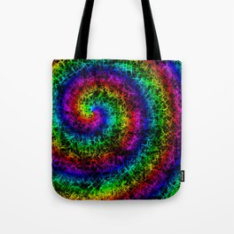 Rainbow Crackle Tote Bag