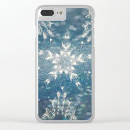 Winter Fairydust Clear iPhone Case