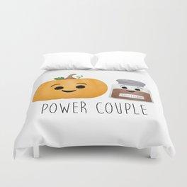 Pumpkin + Spice = Power Couple Duvet Cover