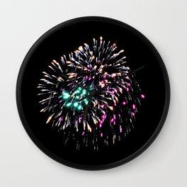 Fireworks 19 Wall Clock