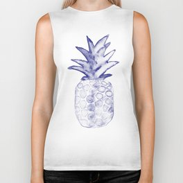 Blue Pineapple Biker Tank