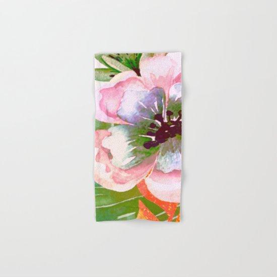 vintage big flower Hand & Bath Towel