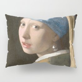 Johannes Vermeer - Girl with the pearl earring (1665) Pillow Sham