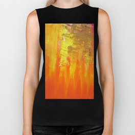 Aflood with gold and rose Biker Tank