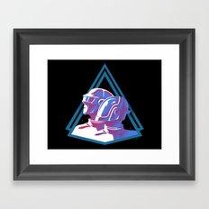 Daft Punk: Daft Deco Framed Art Print