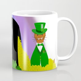 Oliver Finds A Pot Of Gold - Saint Patrick's Day Coffee Mug