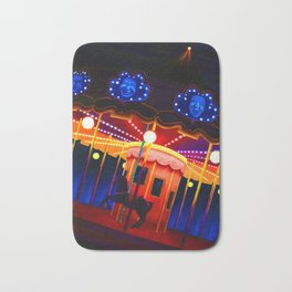 Carousel , Oil Painting Bath Mat