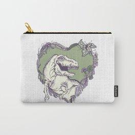 T-Rex Heart - Green & Purple Carry-All Pouch