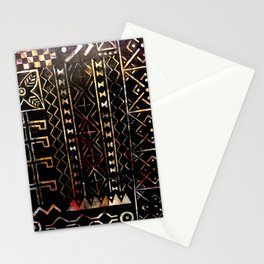 Golden Mud Cloth Stationery Cards