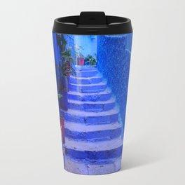 Blue Moroccan Staircase Travel Mug