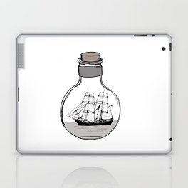The ship in the glass bulb . Art . Laptop & iPad Skin