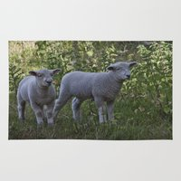 silence of the lambs Area & Throw Rugs featuring Little Lambs by Dawn OConnor