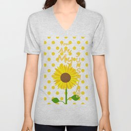 Inspired Sunshine Quote Unisex V-Neck