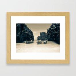 Long Tail Boat Framed Art Print